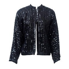 Giorgio Sant'Angelo Black Sequined Jacket