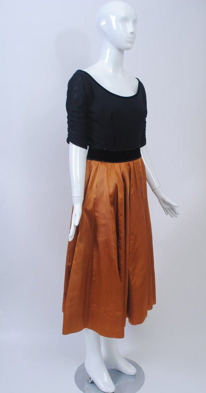 1950s Matte Jersey and Faille Two Piece 2