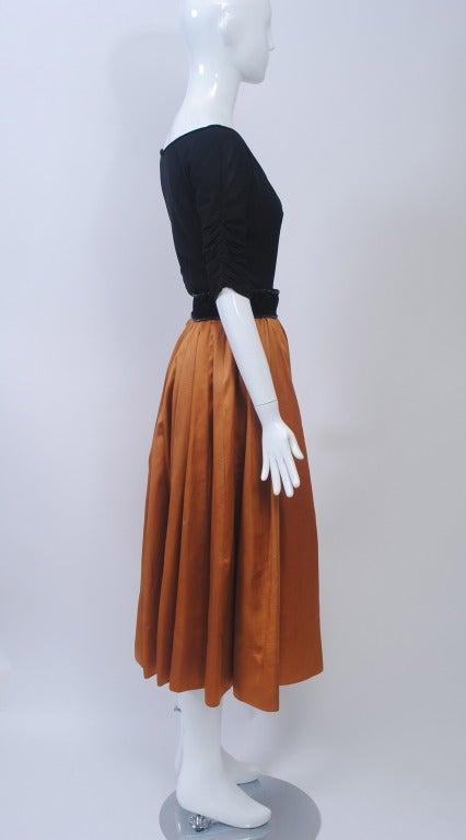 1950s Matte Jersey and Faille Two Piece 3