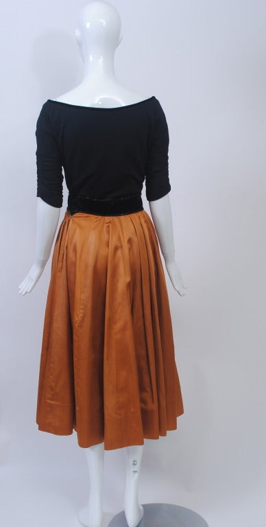 1950s Matte Jersey and Faille Two Piece 5