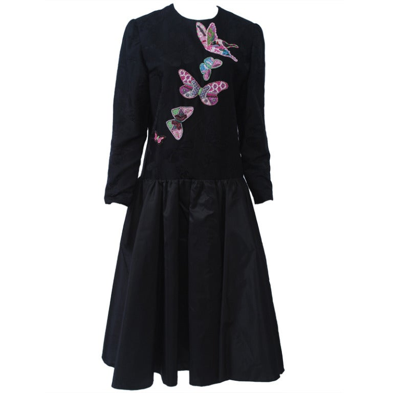 Hanae Mori Butterfly Dress