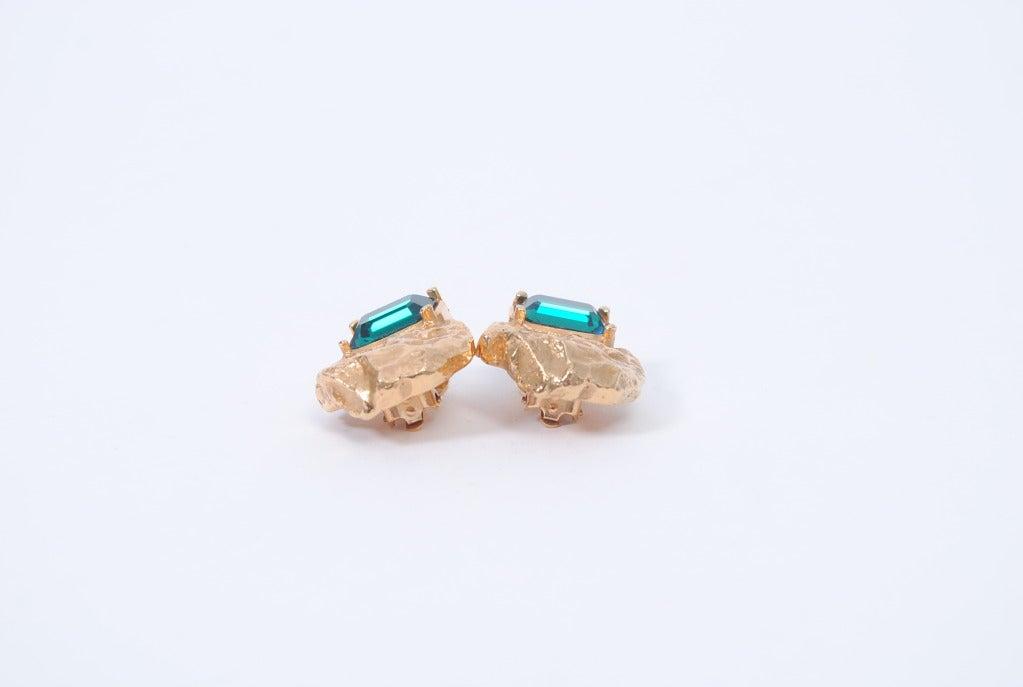 YSL Gold/Emerald Earrings 5