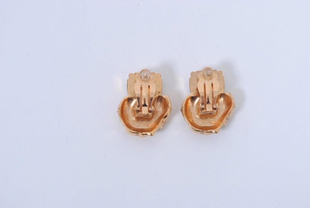 YSL Gold/Emerald Earrings 6