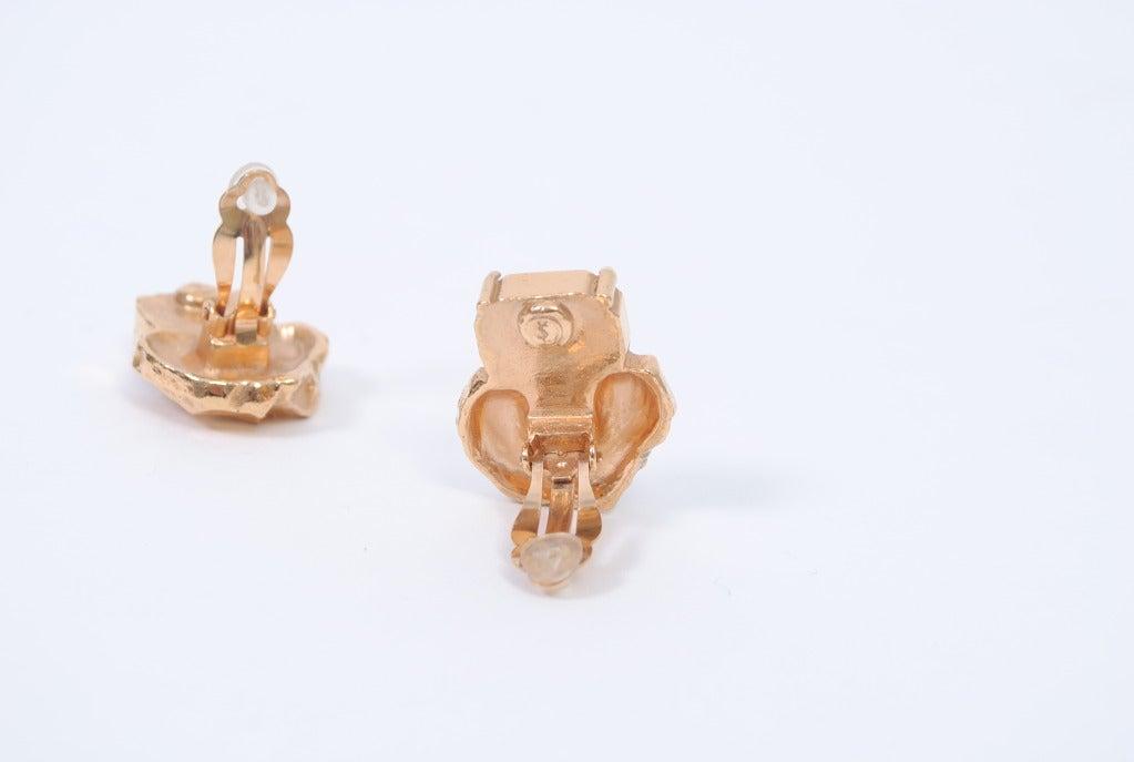 YSL Gold/Emerald Earrings 7