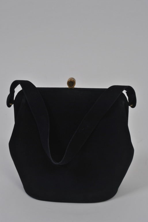 Koret Navy Suede Handbag 4