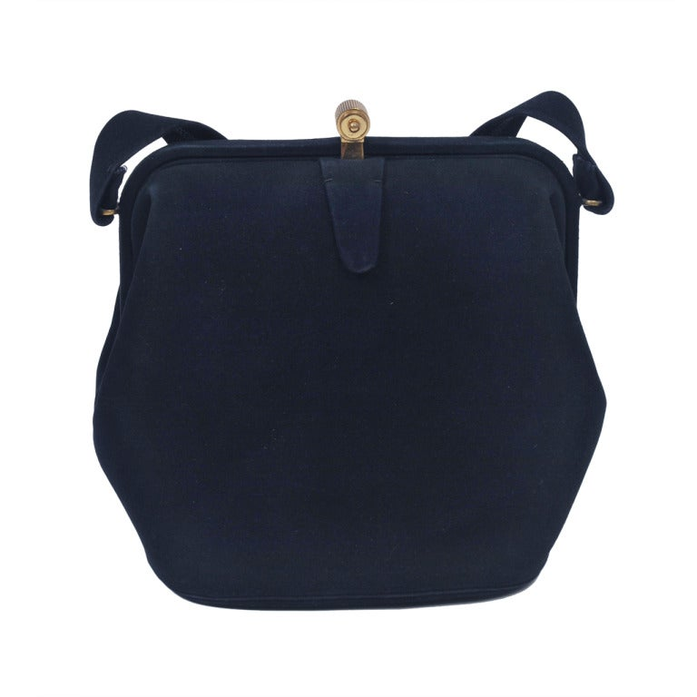 Koret Navy Suede Handbag 1