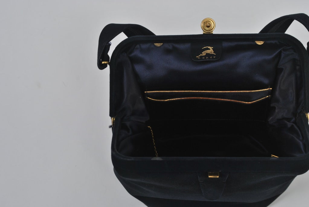 Koret Navy Suede Handbag 7