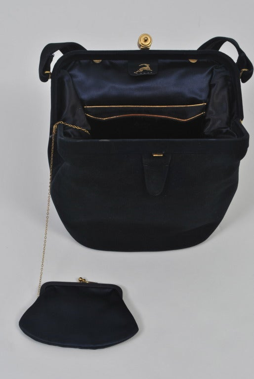 Koret Navy Suede Handbag 8