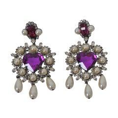 Larry Vrba Heart Earrings