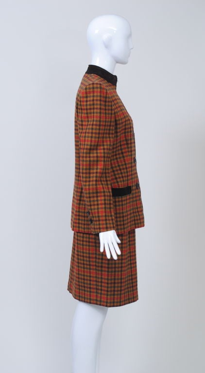Valentino Plaid Suit In Excellent Condition For Sale In Alford, MA