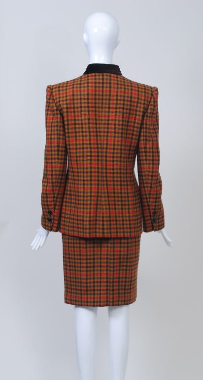 Women's Valentino Plaid Suit For Sale