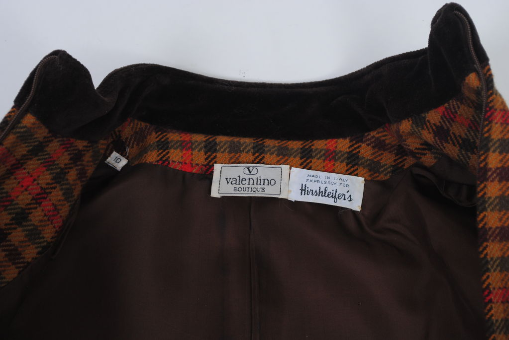 Valentino Plaid Suit For Sale 2