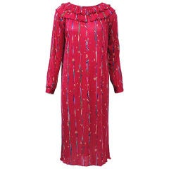 Missoni Red Print Silk Knit Dress