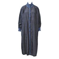 Missoni 1980s Silk Coat Dress w/Tweed Trim
