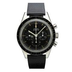 Omega Stainless Steel Speedmaster Chronograph Wristwatch