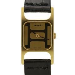 Corum for Hermes Yellow Gold Wristwatch circa 1970s