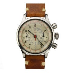 Record Stainless Steel Sport Chronograph Wristwatch circa 1950s