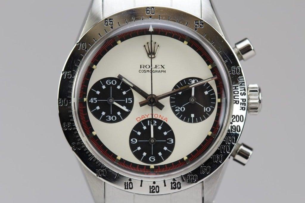 Rolex Stainless Steel Daytona Paul Newman Wristwatch Ref 6239 circa 1960s image 3