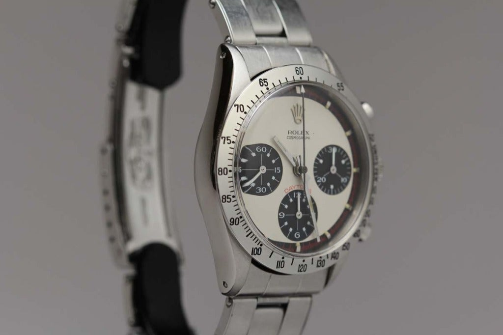 Rolex Stainless Steel Daytona Paul Newman Wristwatch Ref 6239 circa 1960s For Sale 1