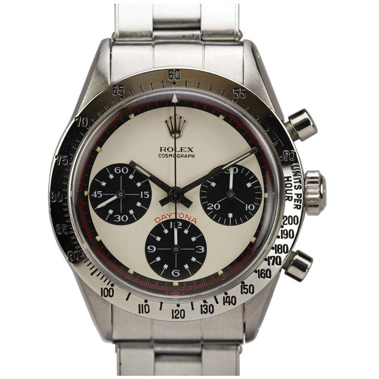 Rolex Stainless Steel Daytona Paul Newman Wristwatch Ref 6239 circa 1960s For Sale