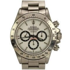 Rolex Stainless Steel Daytona Wristwatch with Porcelain Dial Ref 16520