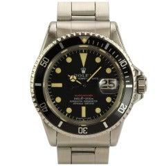 Rolex Stainless Steel Red Submariner Wristwatch Ref: 1680