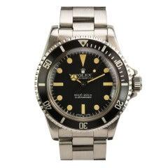 Rolex Stainless Steel Submariner Wristwatch Ref 5513