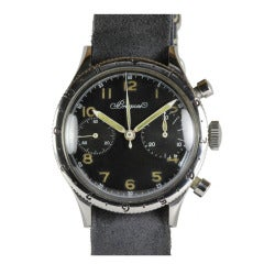 Breguet Stainless Steel Type XX Chronograph Wristwatch circa 1950s