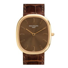Patek Philippe Rose Gold Automatic Golden Ellipse Wristwatch
