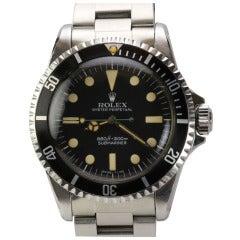 Rolex Stainless Steel Submariner Wristwatch Ref 5512 circa 1970s