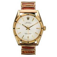 Rolex Yellow Gold Oyster Perpetual Wristwatch Ref 1007 circa 1960s