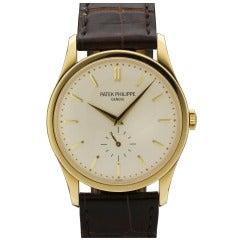 Patek Philippe Yellow Gold Calatrava Wristwatch Ref 5196J