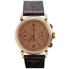 Patek Philippe Rose Gold Chronograph Wristwatch Ref 1579
