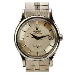 Omega White Gold Constellation Bracelet Wristwatch, circa 1960s