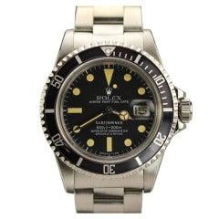 Rolex Stainless Steel Submariner Wristwatch with Date Ref 1680 circa 1979