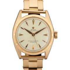 Rolex Oyster Perpetual Chronometer  18k Rose Gold Ref 6085