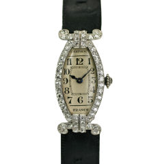 CARTIER PARIS Art Deco Diamond Watch