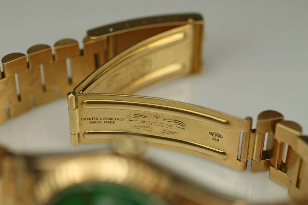 "Rolex  Day-Date Green ""Stella Dial Presidential"" 18k Ref 1803 image 10"