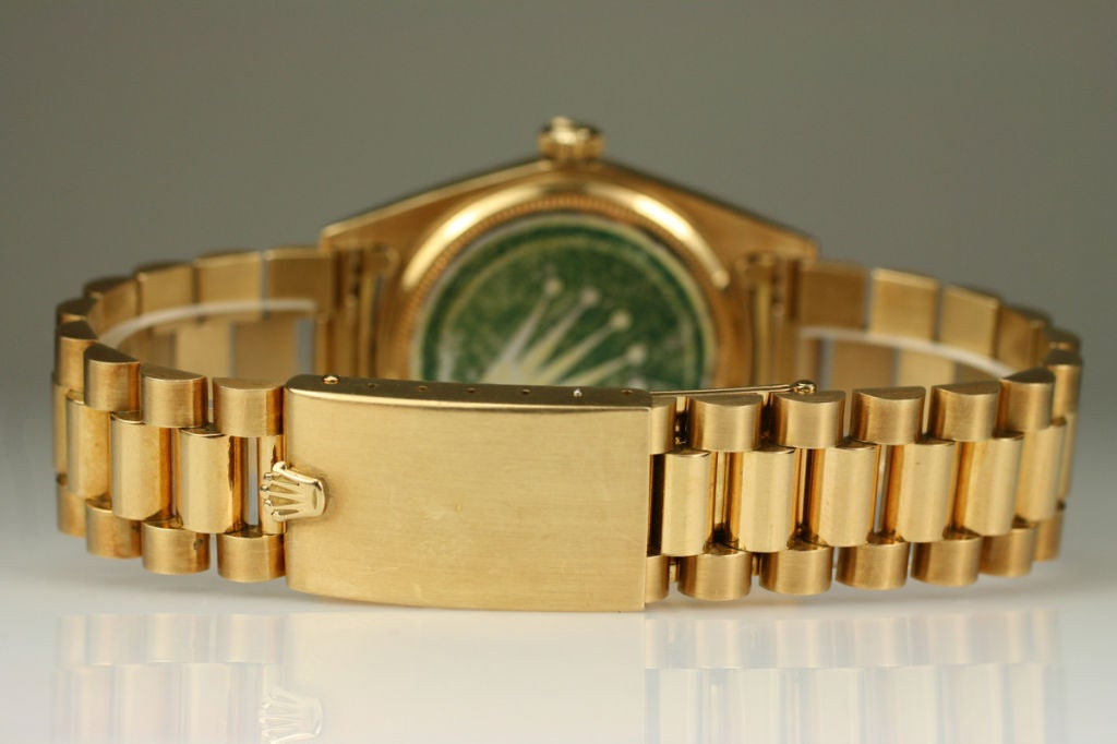 "Rolex  Day-Date Green ""Stella Dial Presidential"" 18k Ref 1803 image 7"