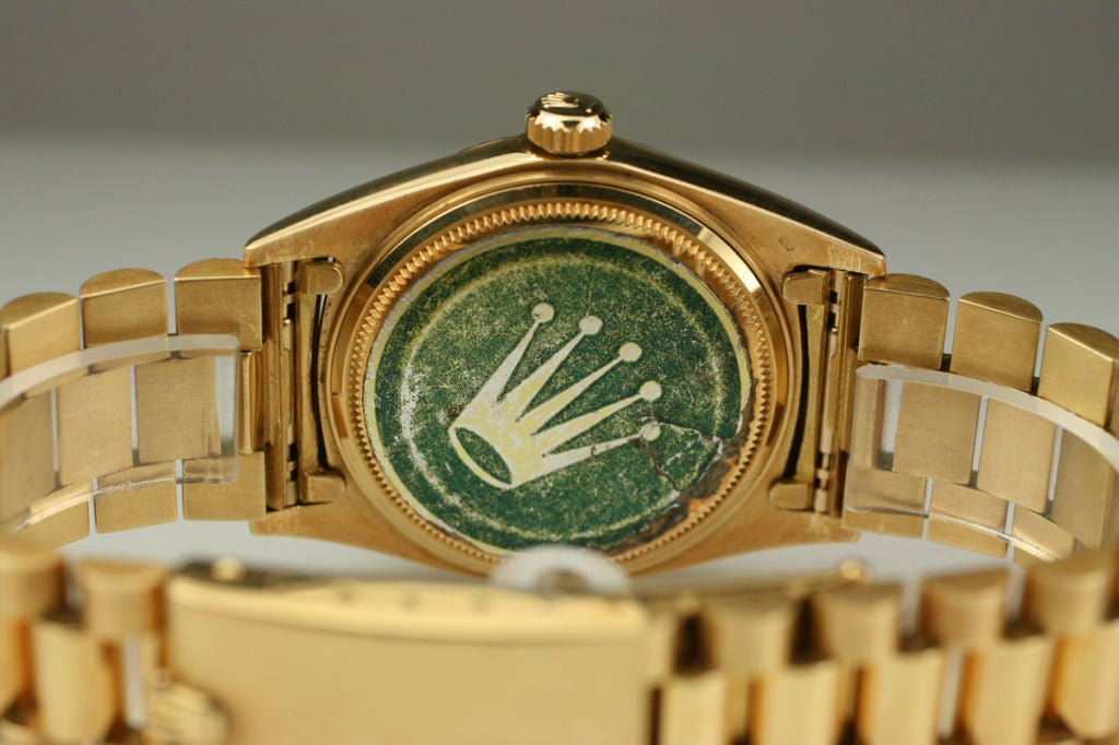 "Rolex  Day-Date Green ""Stella Dial Presidential"" 18k Ref 1803 image 8"