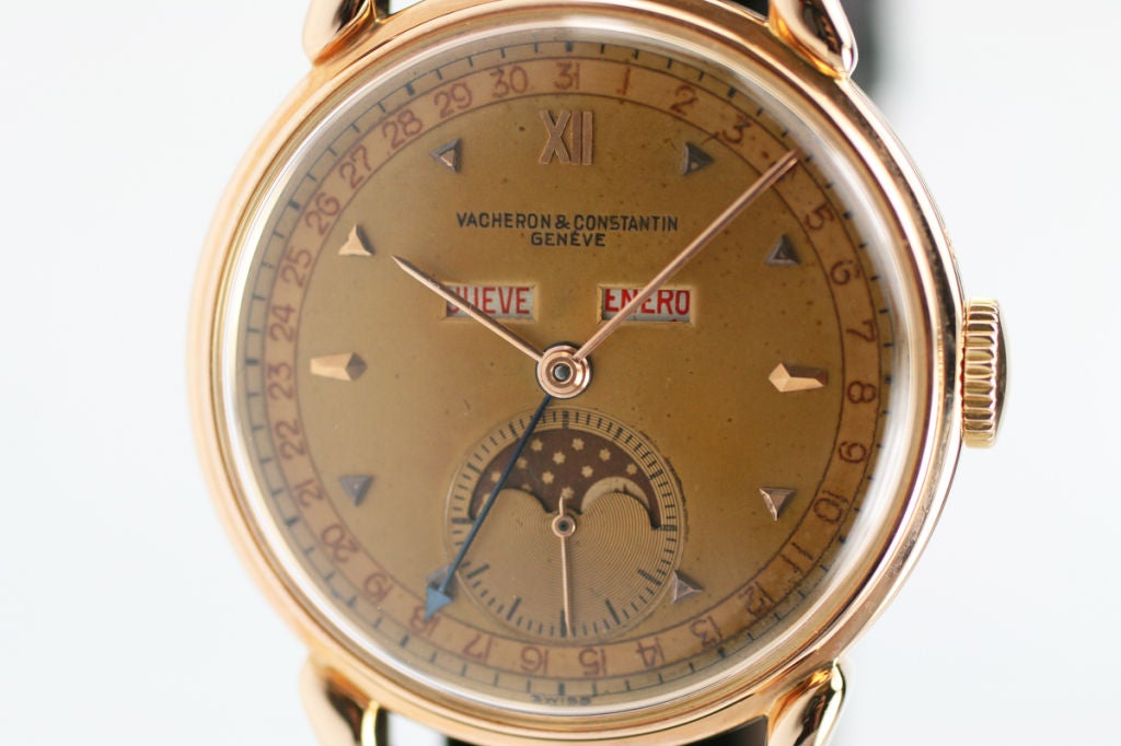 Vacheron constantin triple date moon phase in rose gold at for Triple j fine jewelry