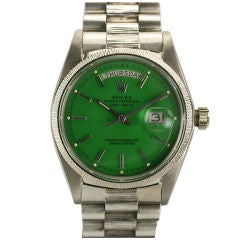 "Rolex  Day-Date Green ""Stella Dial Presidential"" Ref 1807"