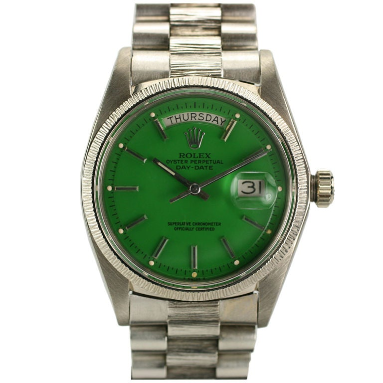 "Rolex  Day-Date Green ""Stella Dial Presidential"" Ref 1807"