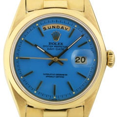 """Rolex  Day-Date Blue """"Stella Dial"""""""