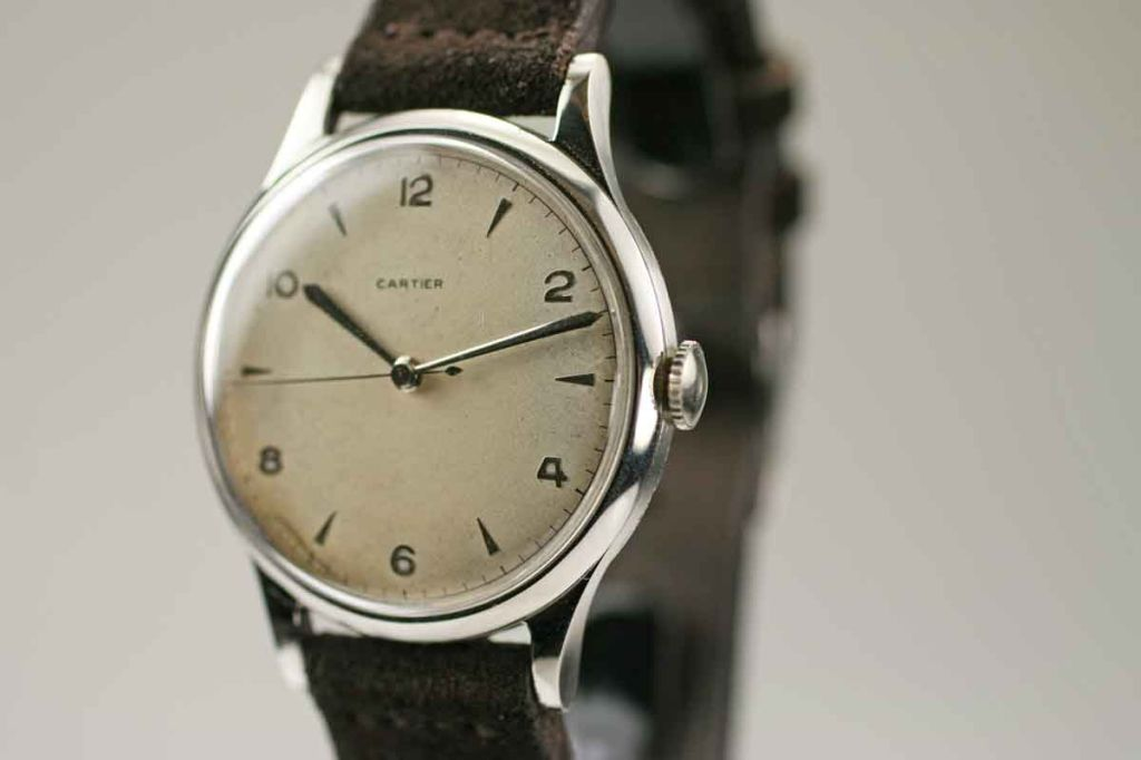 Rare Oversized 1950s Watch Retailed by Cartier 2