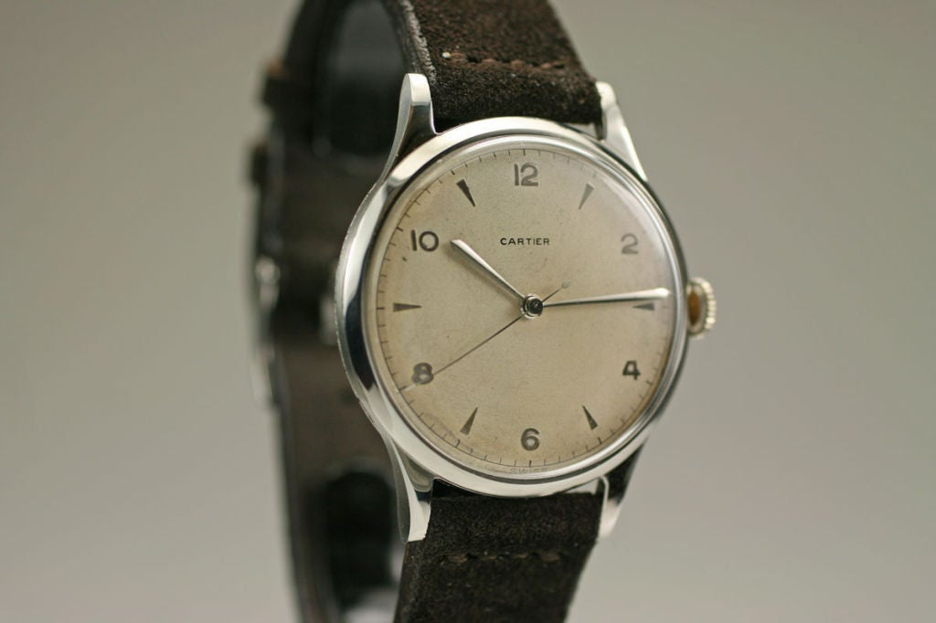 Rare Oversized 1950s Watch Retailed by Cartier 3