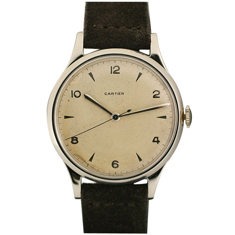 Rare Oversized 1950s Watch Retailed by Cartier 1
