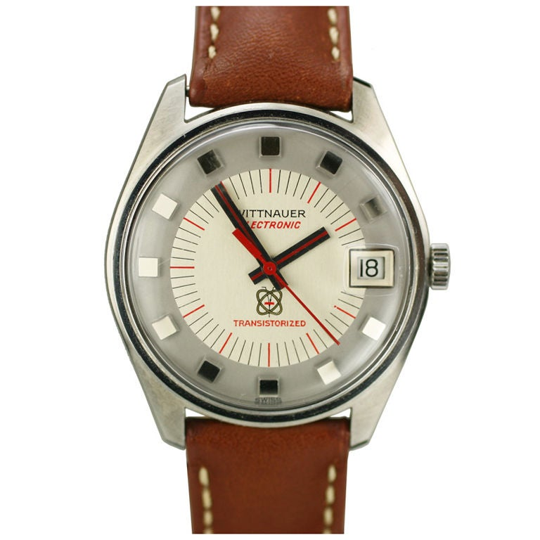 Wittnauer Stainless Steel Electronic Transistorized Wristwatch