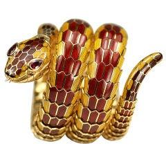 "BULGARI Tubogas Style ""Serpenti"" Snake Watch/Bracelet"