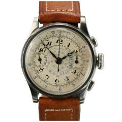 ABERCROMBIE & FITCH Staybrite Stainless Steel Chronograph Watch